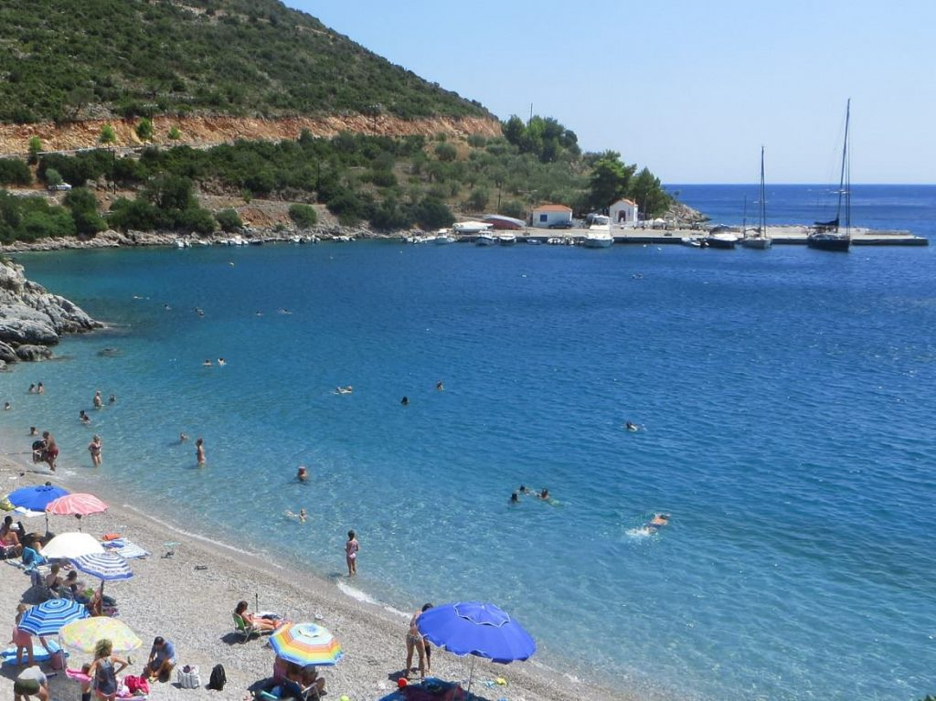 Kyparissi beach, day trip from Monemvasia Castle. Summer in Greece. Monemvasia Castle Travel Guide.