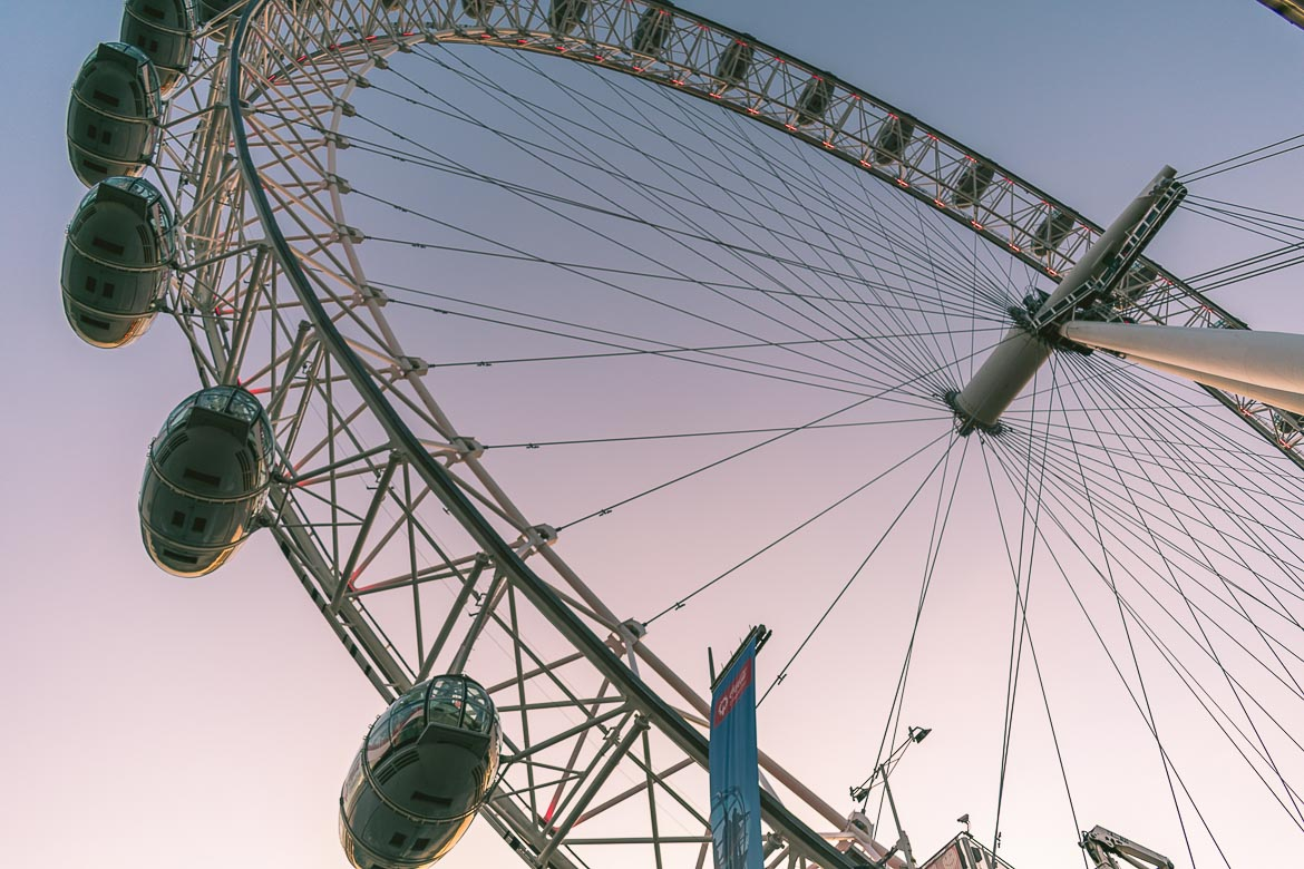 This is a photo of the London Eye. That's where we ended our South Bank walk in London, England.