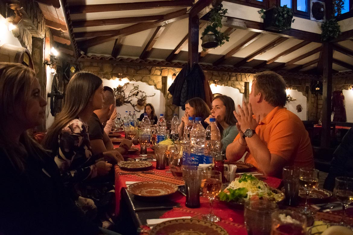 This photo was taken during dinner at one traditional mehana in Bansko Old Town. Unconference explained: Experiencing Bloggers On Top 2018 in Bansko.