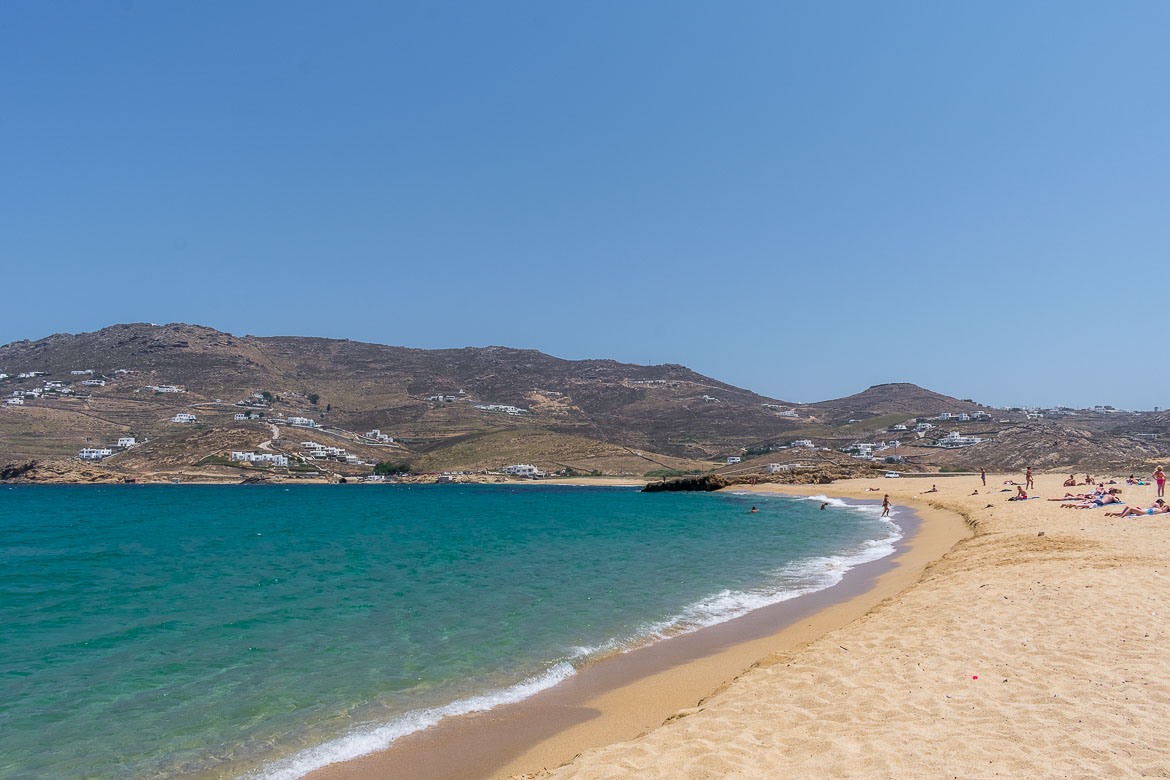 This is a photo of Ftelia Beach, a beautiful sandy beach with turquoise waters.