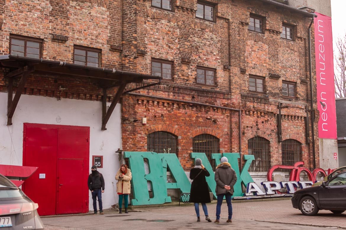 The Neon Museum Warsaw Poland. Winter in Warsaw. Top things to do and Warsaw city guide.