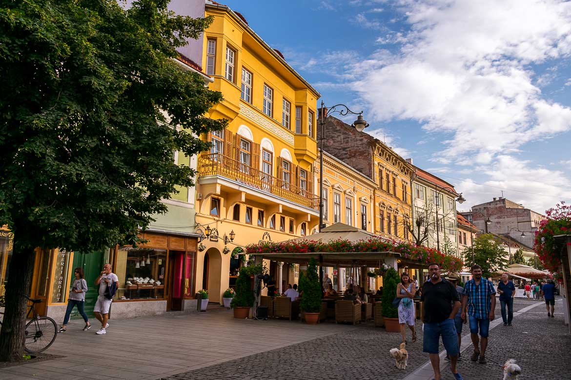 Strada Nicolae Balcescu is the main street in the historic centre of Sibiu Romania. It's full of life all day long. 11 amazing things to do in Sibiu Romania.