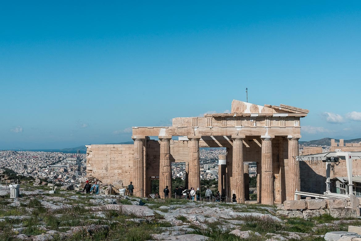 This image shows the Parthenon at the Acropolis of Athens.