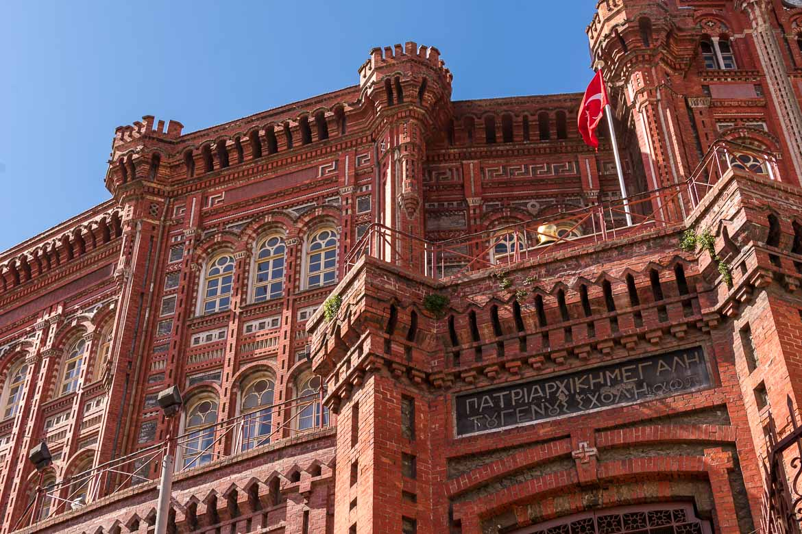 The impressive Greek Orthodox College. The best sightseeing tours in Istanbul.