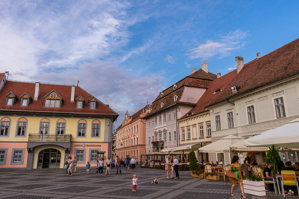 Piata Mare is the main square in Sibiu Old Town. 11 amazing things to do in Sibiu Romania.