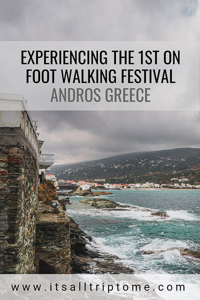 Have you ever joined a walking festival? If the idea of walking along ancient trails with gorgeous views fascinates you, don't miss this hiking event on the beautiful Greek Island of Andros. 23 days of different hiking routes, picturesque villages and traditional feasts await you! #hiking #trails #andros #cyclades #greece #europe #travel