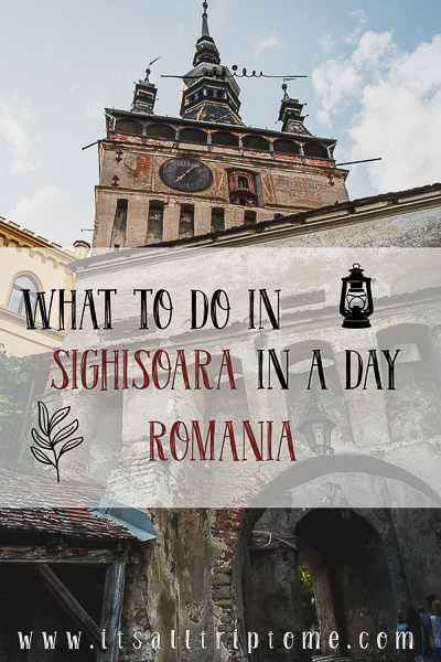 Sighisoara is a small medieval town in the heart of Transylvania. With its colorful buildings and cobbled streets it was undoubtedly one of the highlights during our road trip in Romania. Read more about what to do in Sighisoara in one day. #oldcity #oldtown #daytrip #clocktowers #transylvania #visitromania #romania #traveleurope #unescoromania #hiddengem