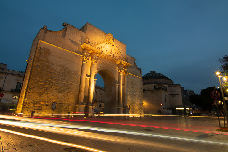 This image shows the Napoli gate in Lecce.