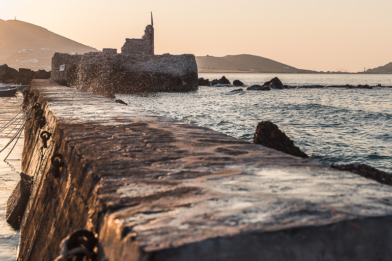 This image shows the Venetian Castle in Naoussa Paros.