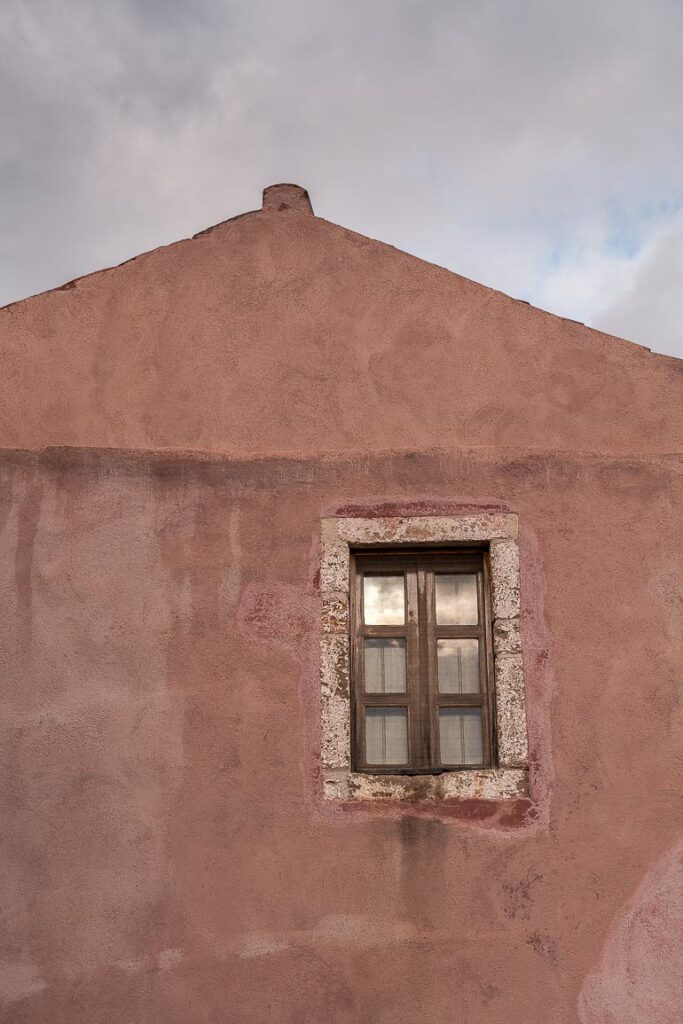 This image shows a window of a traditional building in Monemvasia.