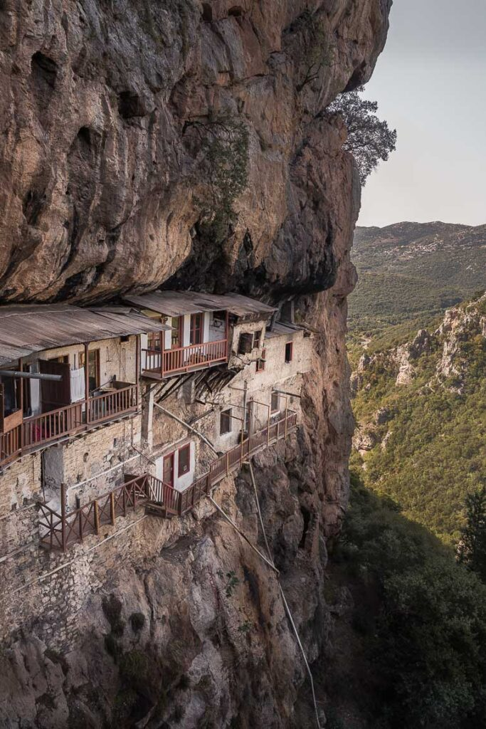 This image shows a monastery in Dimitsana Greece.