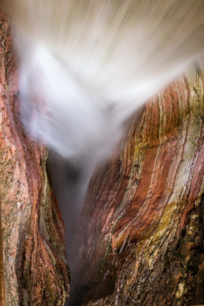 This image shows a waterfall in Trento.