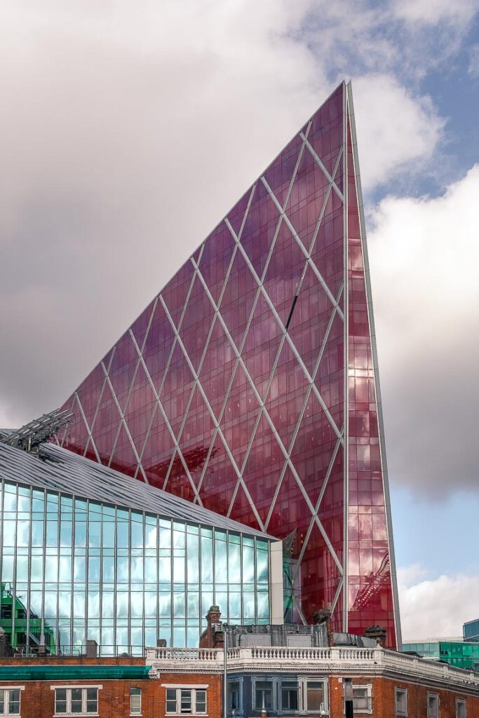 This image shows a modern building in London.
