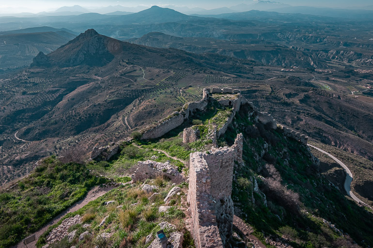 This image shows the view from the top of Acrocorinth.