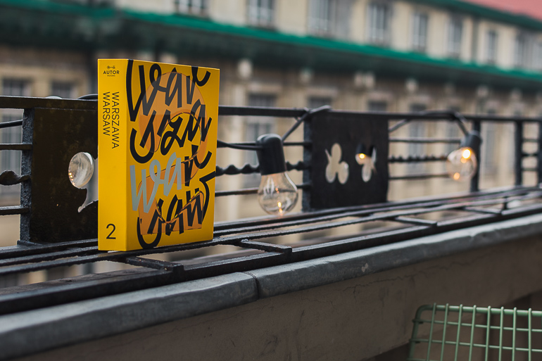 This image shows a book about Warsaw.