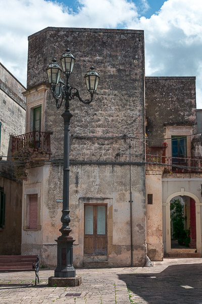 This is a close up of a gorgeous building in Corigliano d'Otranto. The latter is one of the prettiest towns in Grecia Salentina.