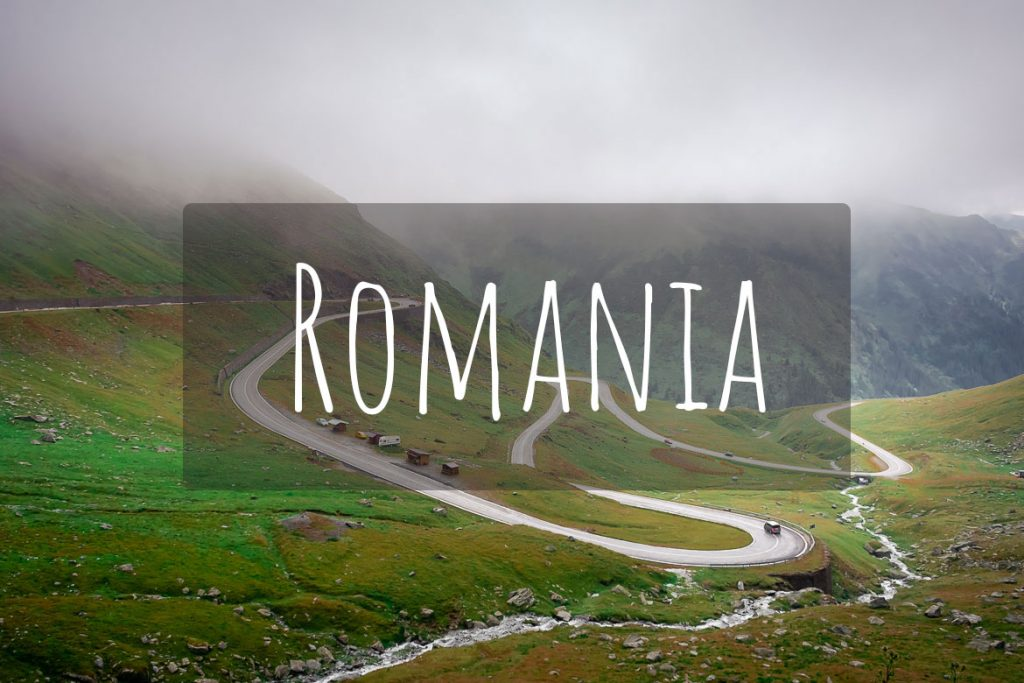 This image shows the iconic hairpins of the Transfagarasan road in Romania. It's the cover photo of Romania in our destinations page.