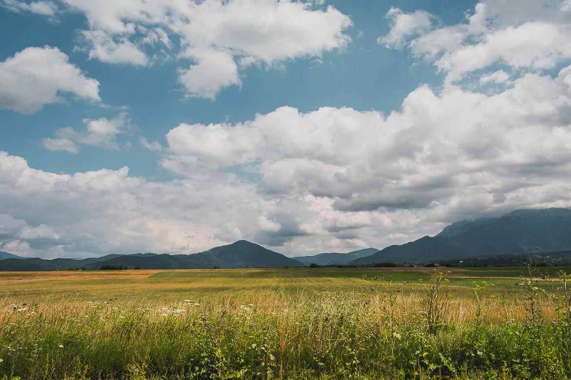 This photo was taken while driving from Brasov to Bran Castle. This route offers amazing views to the enchanting countryside of Transylvania in Romania.