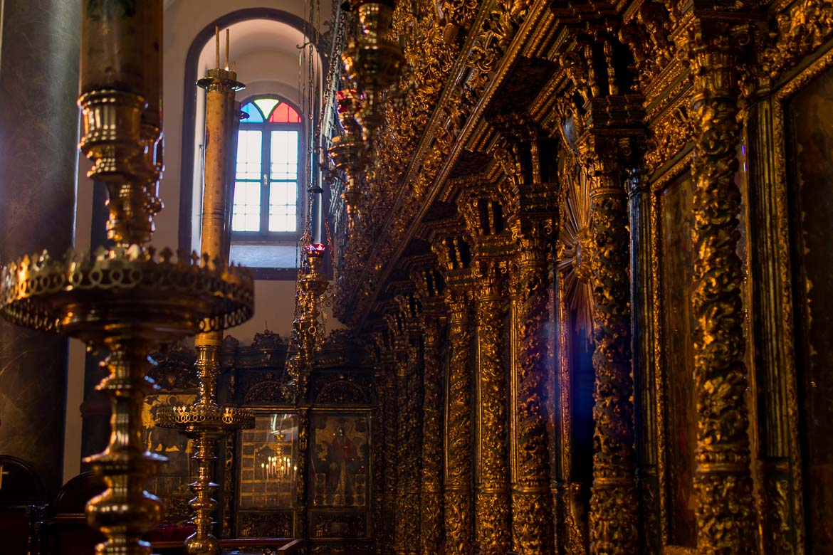 Inside the Church of St. George at the Greek Orthodox Patriarchate in Istanbul. The best sightseeing tours in Istanbul.