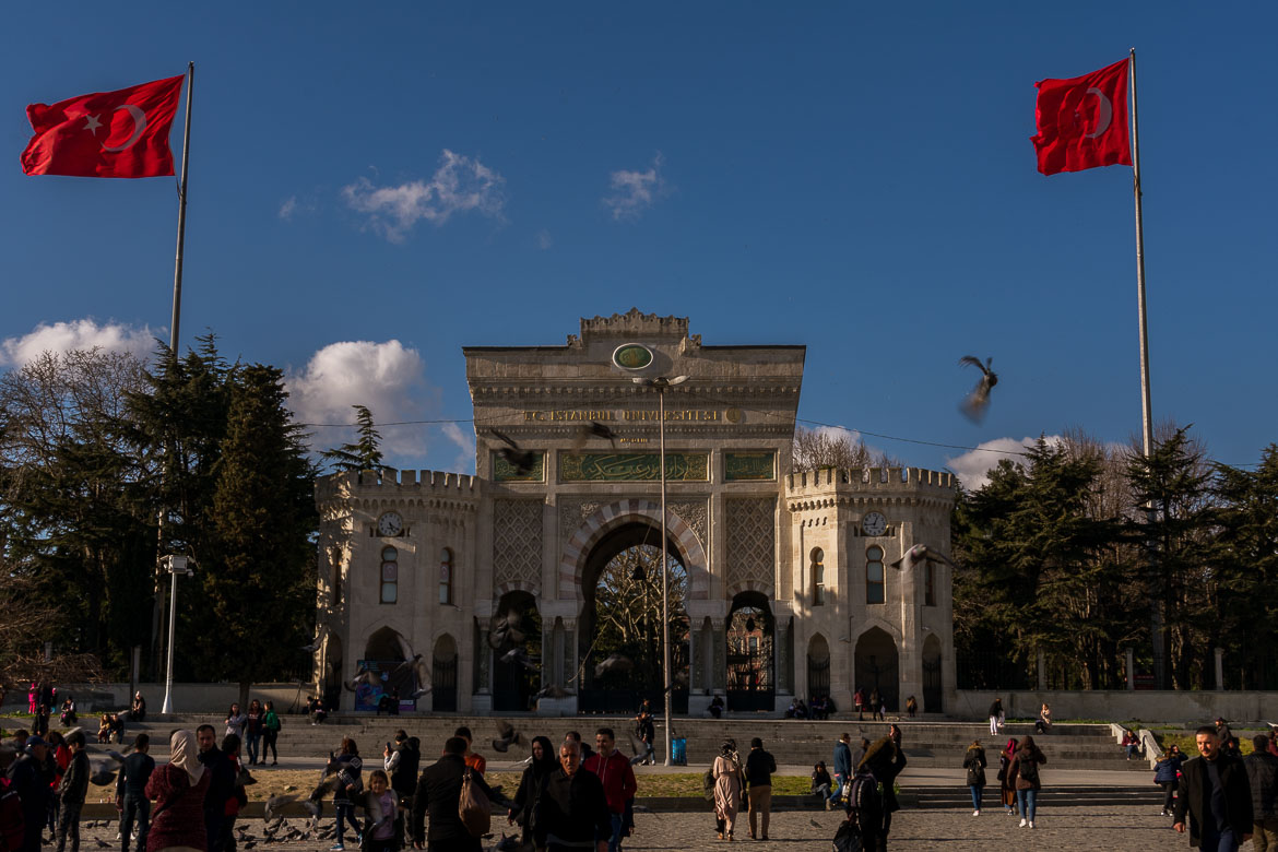 The main entrance to Istanbul University at Beyazit Square. The best sightseeing tours in Istanbul.