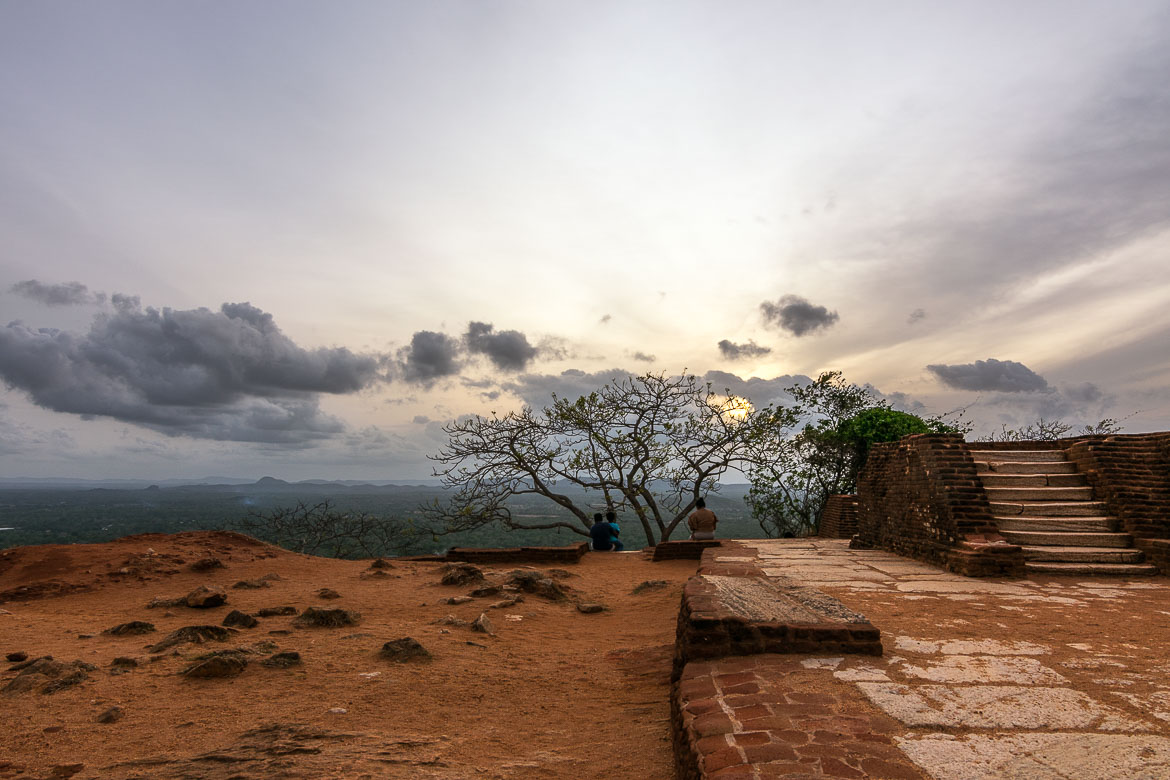 This image shows the views to sri Lanka's hill country from the top of Sigiriya rock.