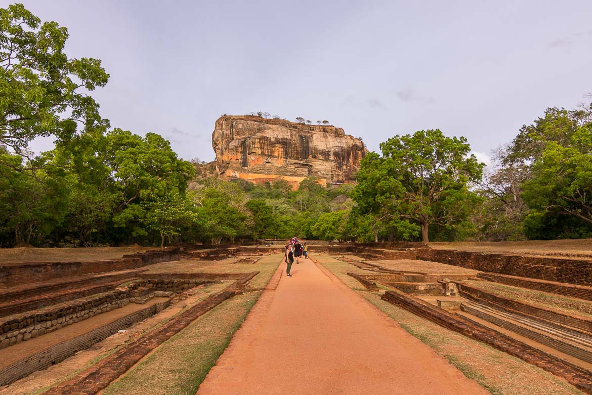 This photo shows Sigiriya Palace as seen from the main path that leads to the Lion Rock.