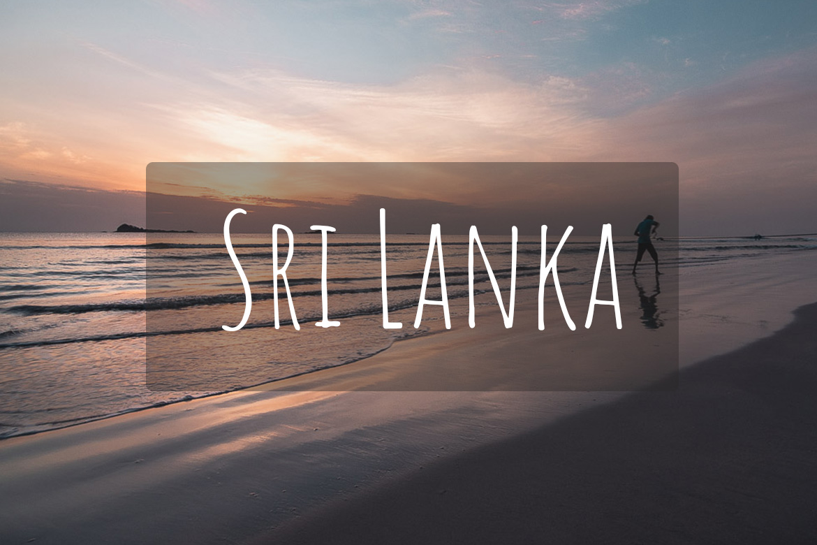 This image shows the beach in Trincomalee in Sri Lanka during sunrise. A fisherman is shown pulling the fishing net from the sea. It's the cover photo of Sri Lanka as a destination.