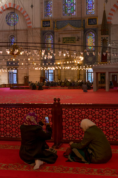 Inside Suleymaniye Mosque. The best sightseeing tours in Istanbul.