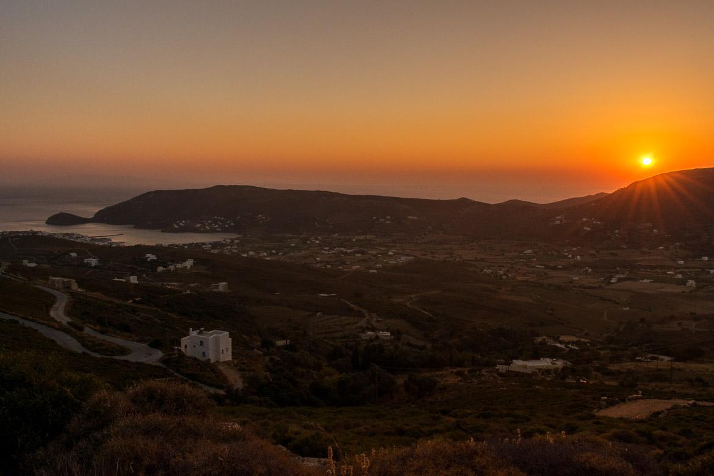 A sunset snapshot taken on the Vitali-Gavrio route.