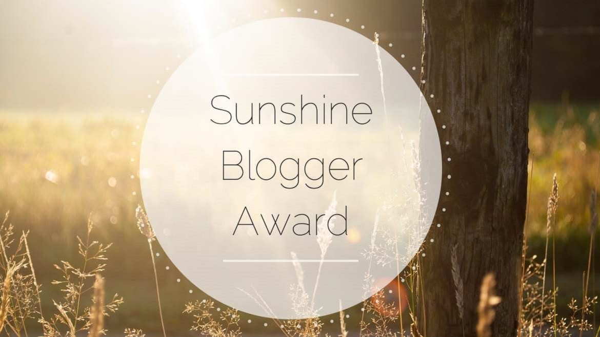 This is a logo for the Sunshine Blogger Award.