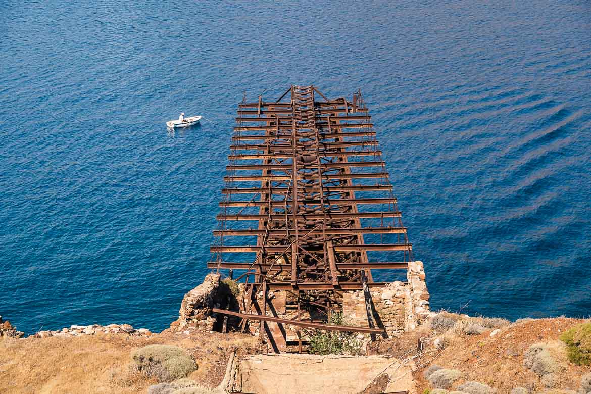 This is a close-up of the loading ladder at the Old Koutalas Mines.