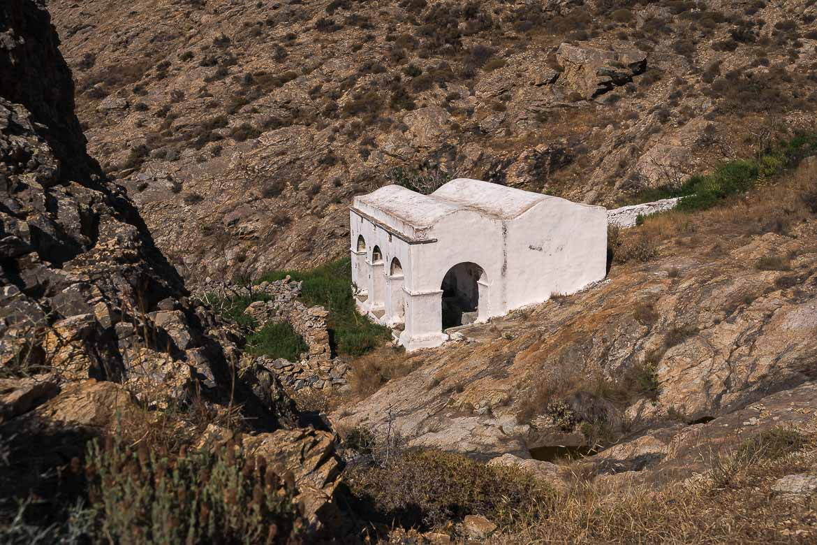 This image shows the old plystario, one of the best places to visit in Serifos.