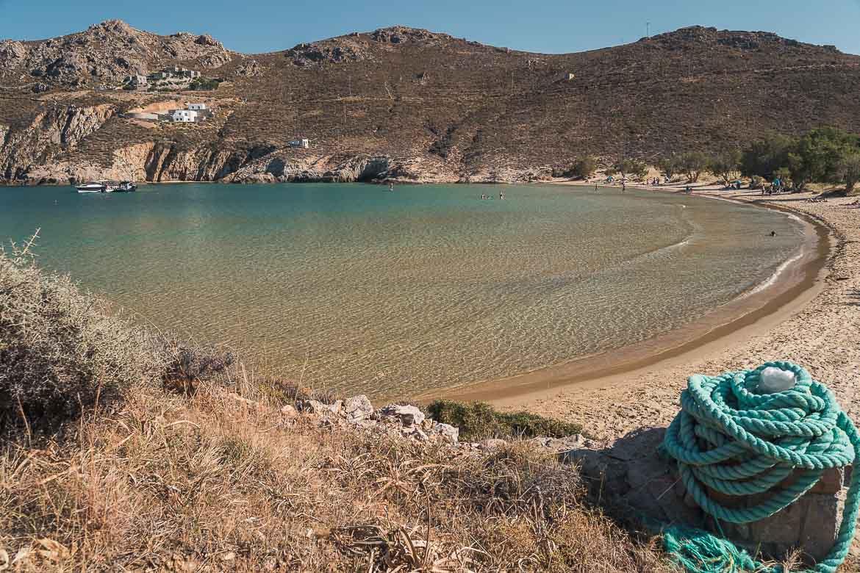 This image shows Psili Ammos beach.