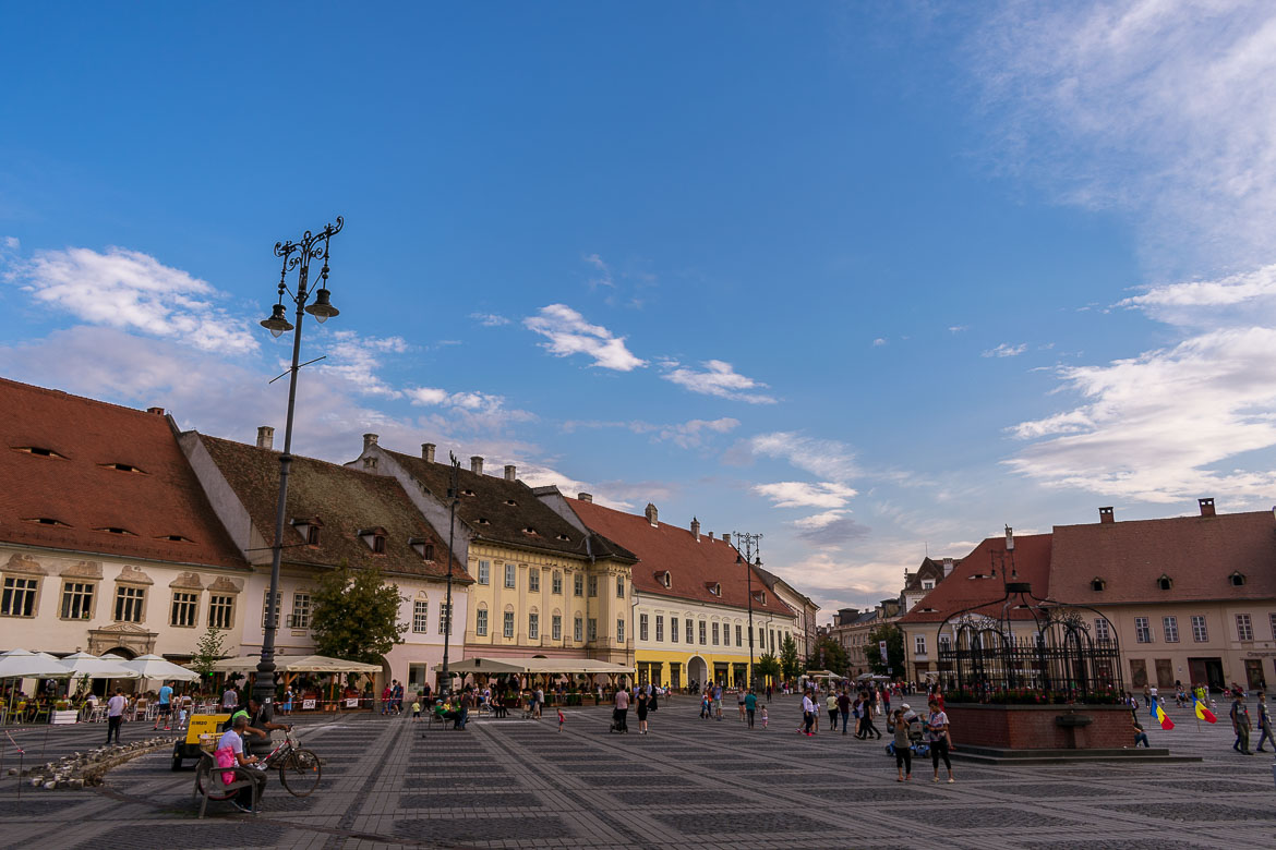 Piata Mare in Sibiu. 11 amazing things to do in Sibiu Romania.