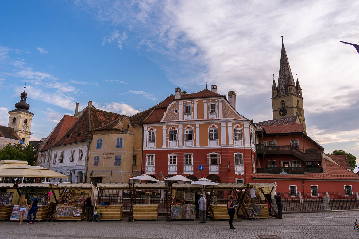 Piata Mica in Sibiu. 11 amazing things to do in Sibiu Romania.