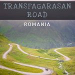 This image shows the iconic hairpin turns of the Transfagarasan Highway. The latter winds its way through the green slopes of the Fagaras Mountains in Romania. This image is optimised for Pinterest. There is overlay text that reads: Best things to see along the Transfagarasan Road Romania. If you like our article about the Transfagarasan road trip we enjoyed, please pin this image.