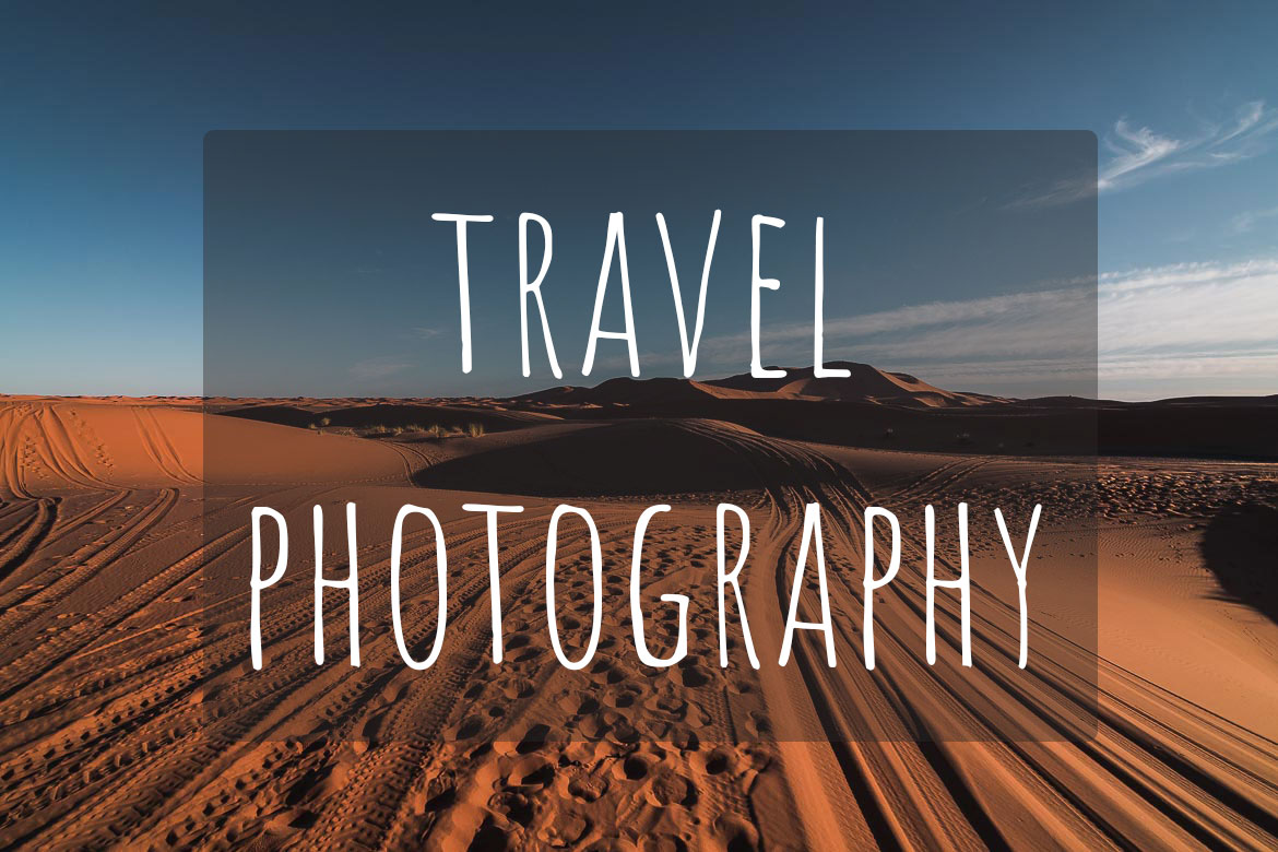 This image shows the Sahara desert in Morocco. It's the cover image of Travel Photography