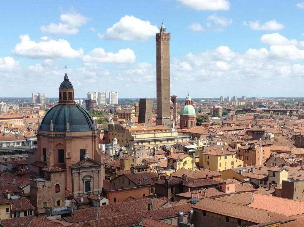 two towers bologna landmark emilia romagna italy
