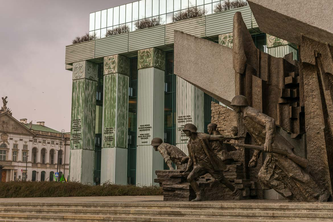 The Warsaw Uprising Monument. Winter in Warsaw. Top things to do and Warsaw city guide.