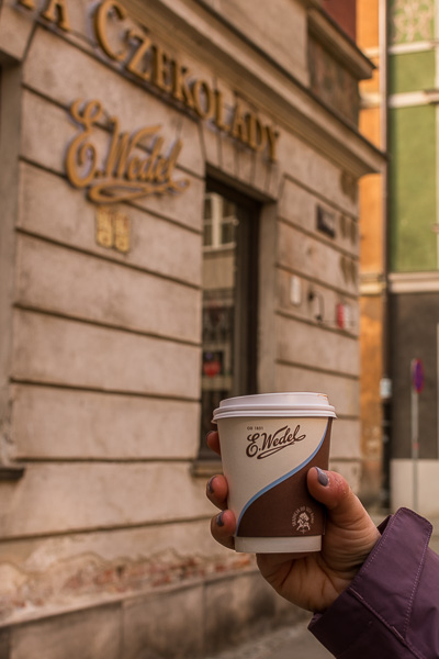 E.Wedel produces some of the best hot chocolate we've ever tried. Winter in Warsaw. Top things to do and Warsaw city guide.