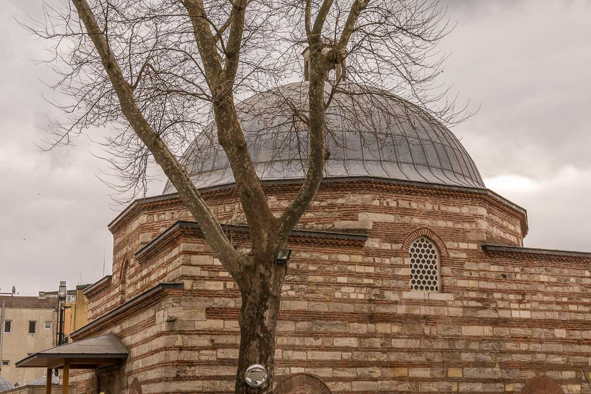 This is an ourside shot of Kilic Ali Pasa Hamami in Istanbul.