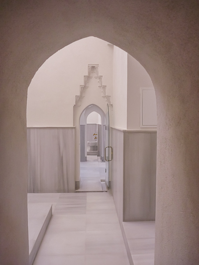 This image shows the private area at Kilic Ali Pasa Hamami.