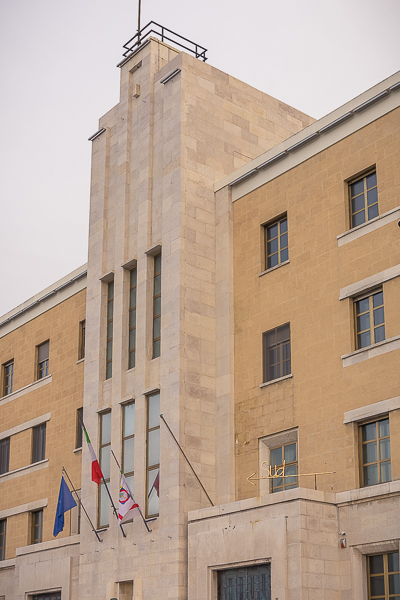 This is a close up of the building that houses the region of Puglia offices in Bari.