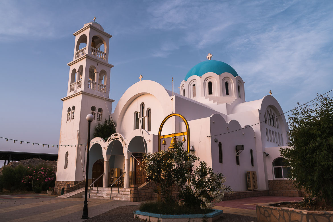 This is an image of Agioi Anargiroi Church, one of the best things to see in Agistri Greece.