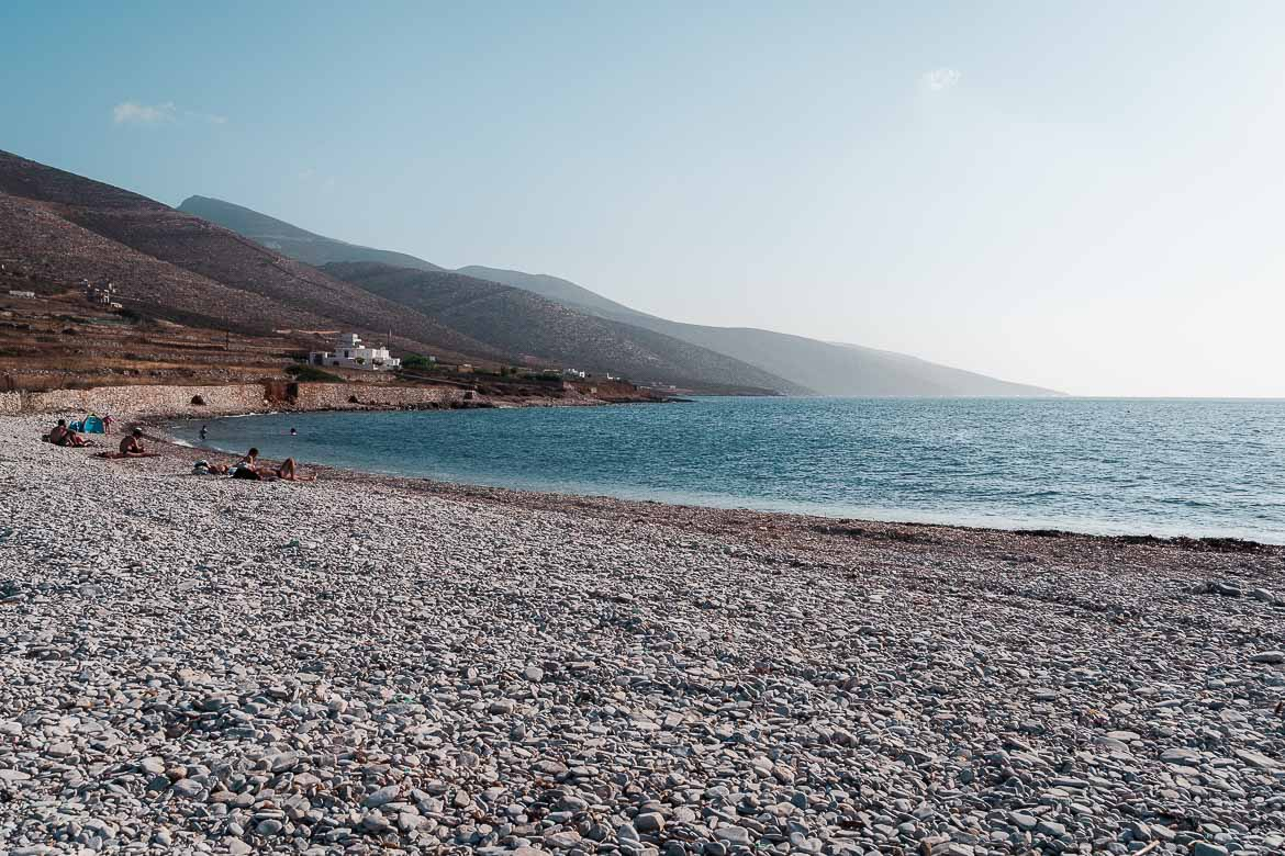 This is a close up of Agios Pavlos Beach before sunset.