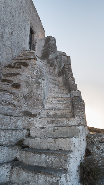 This image shows the stone steps leading to the tiny church and, consequently, to the castle.