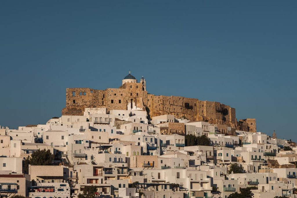 This is a close up of the golden castle as it soars above the whitewashed Chora. Nothing can get more iconic than that and this is why we've chosen this photo to be the featured image of our article What to do in Astypalaia Greece.