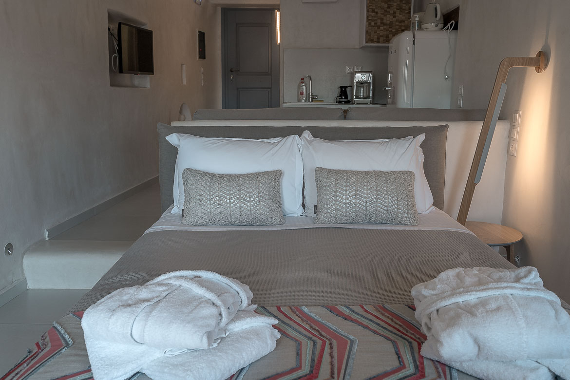 This image shows a smartly decorated bedroom.