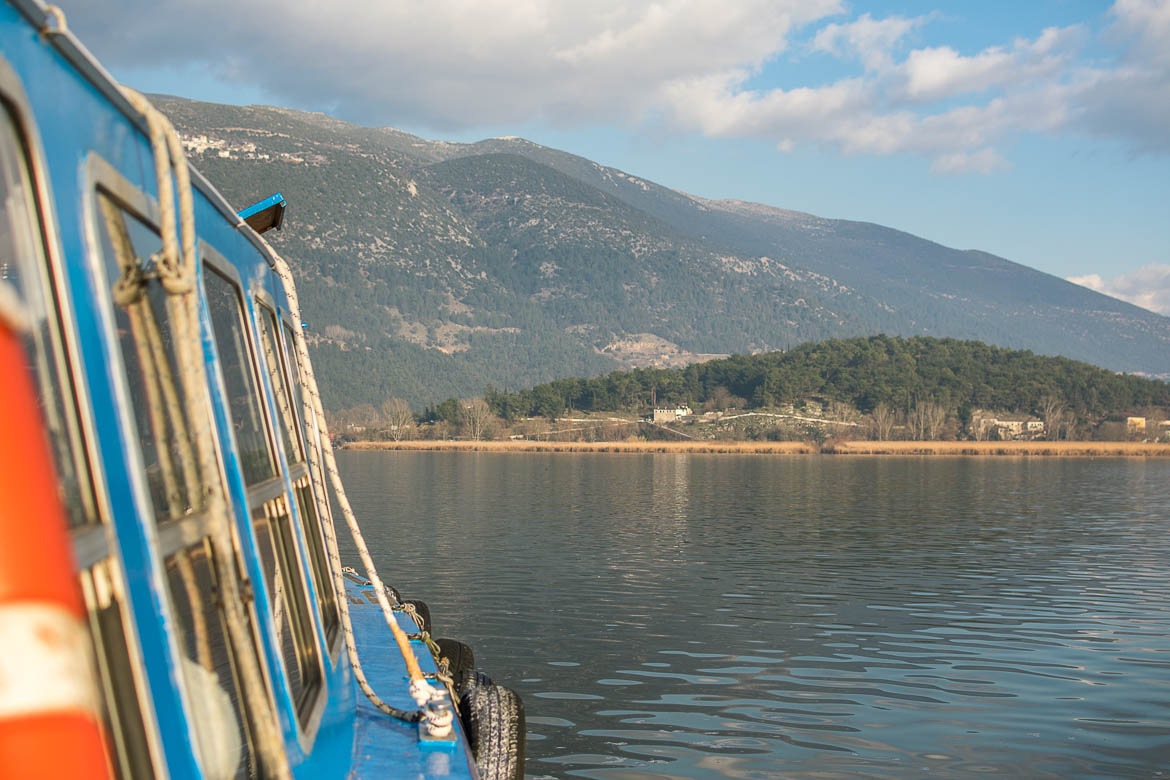 This photo was taken during the short ferry ride from Ioannina to the Island.