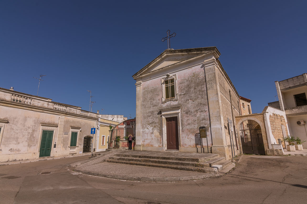 This is a general capture of Calimera, one of the Greek towns in Salento.